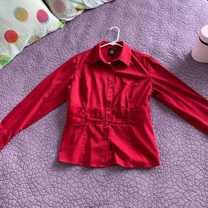 Casual Red Blouse